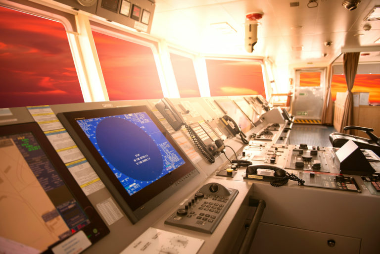 radar on a ship