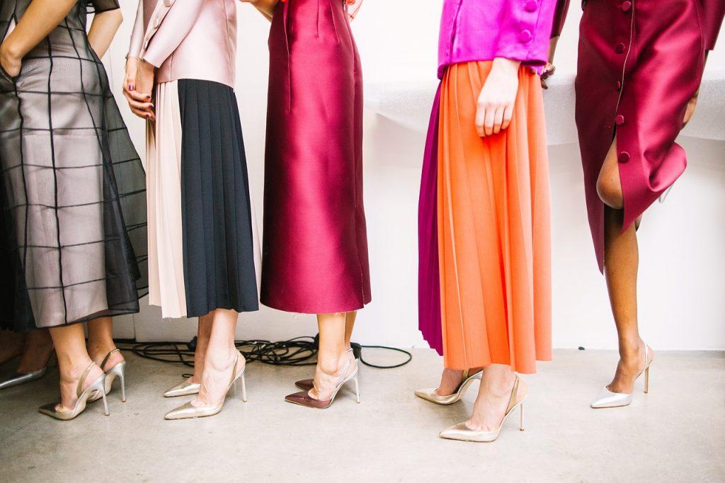models wearing heels