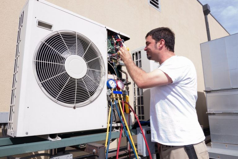 repairing HVAC system